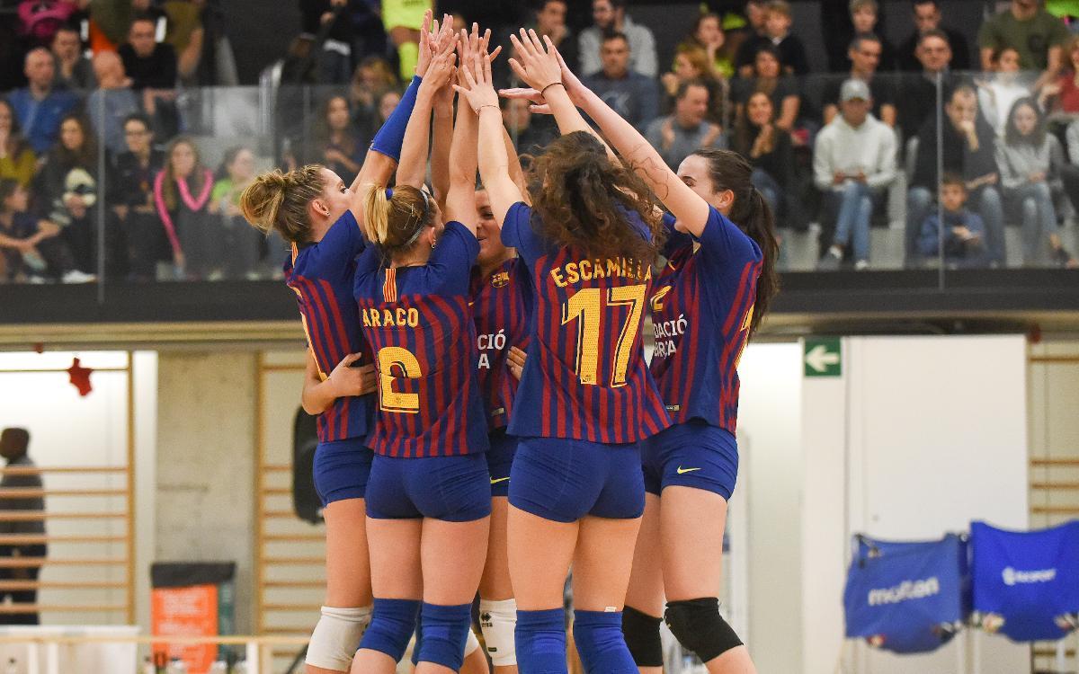 El CVB Barça se ha clasificado para las semifinales de la Copa de la Reina