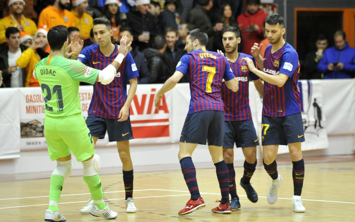 Aspil-Vidal Ribera Navarra 2-3 Barça Lassa: Win to close the year