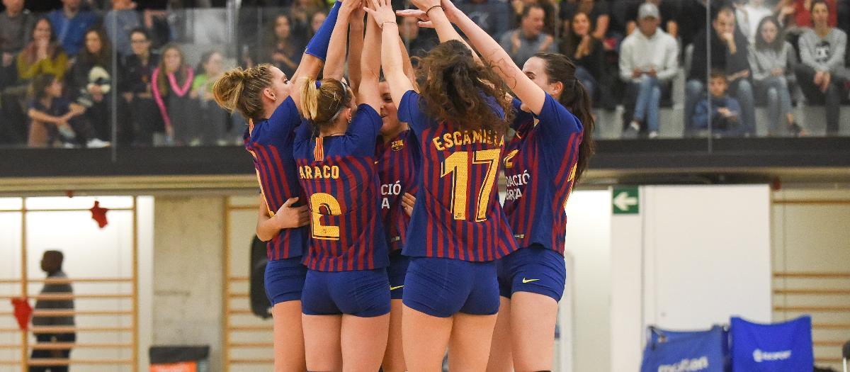El Barça de voleibol femenino jugará el play off de liga