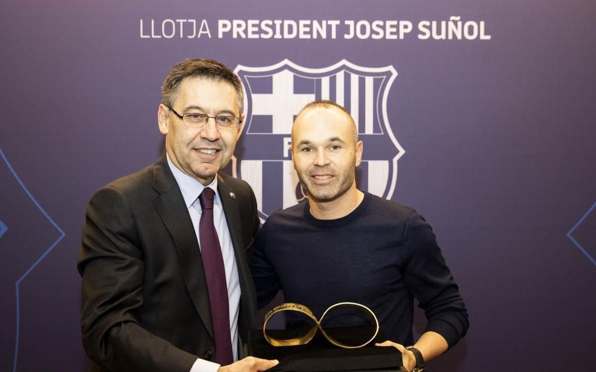 Andrés Iniesta, convidat de luxe en el Barça-Celta