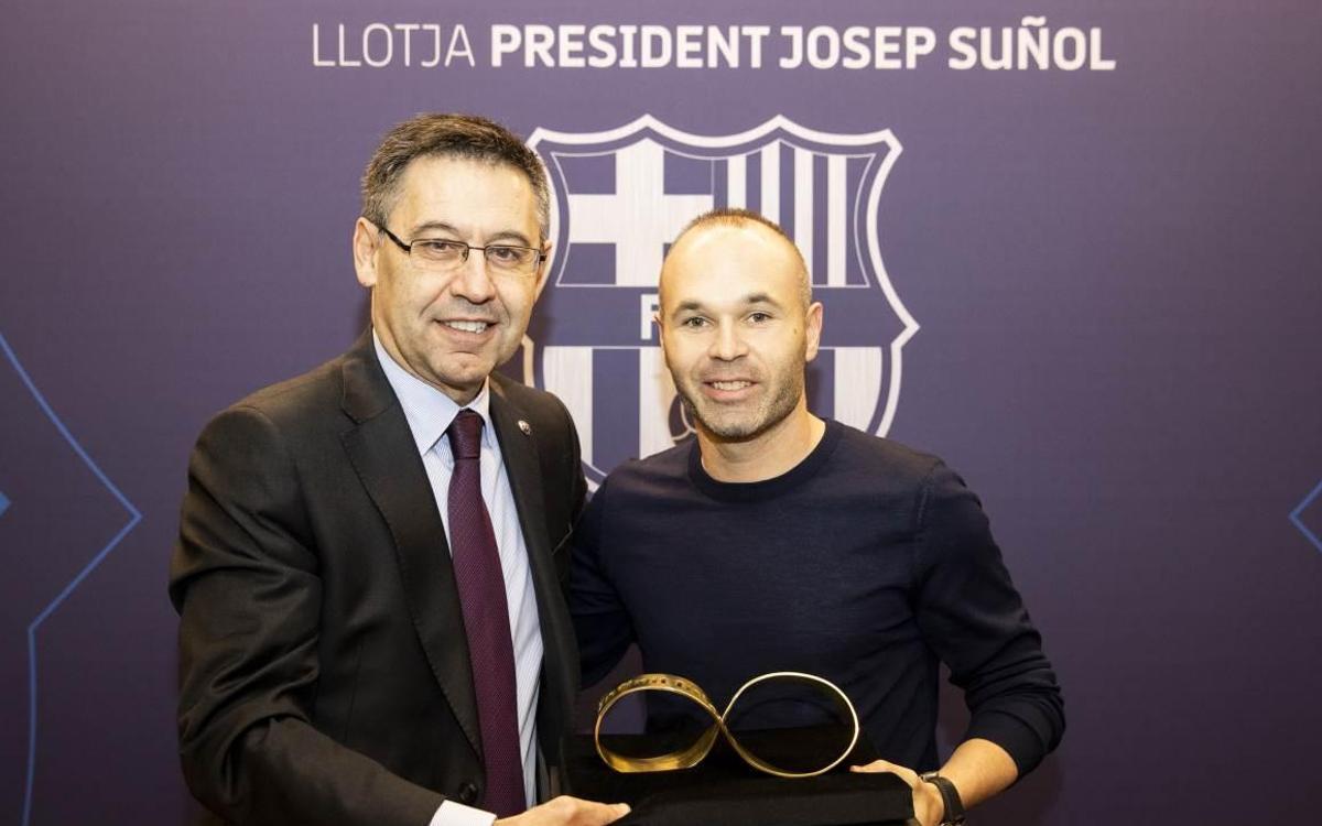 Andrés Iniesta, invitado de lujo en el Barça-Celta