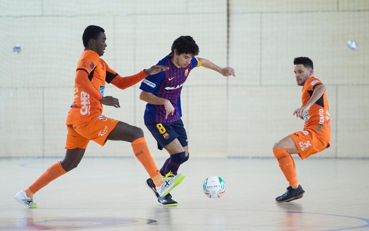 Barça Lassa B - Pescados Rubén Burela (2-2): Empate ante el líder