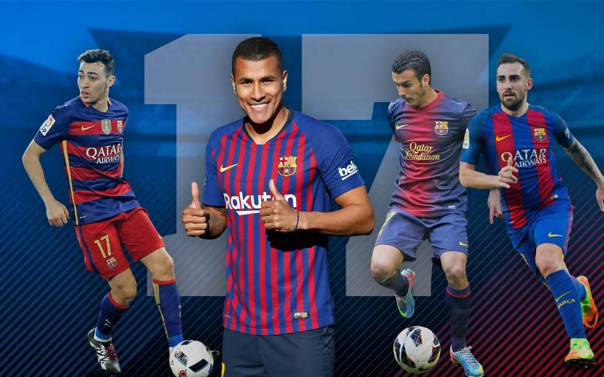 all of fc barcelona s no 17 s