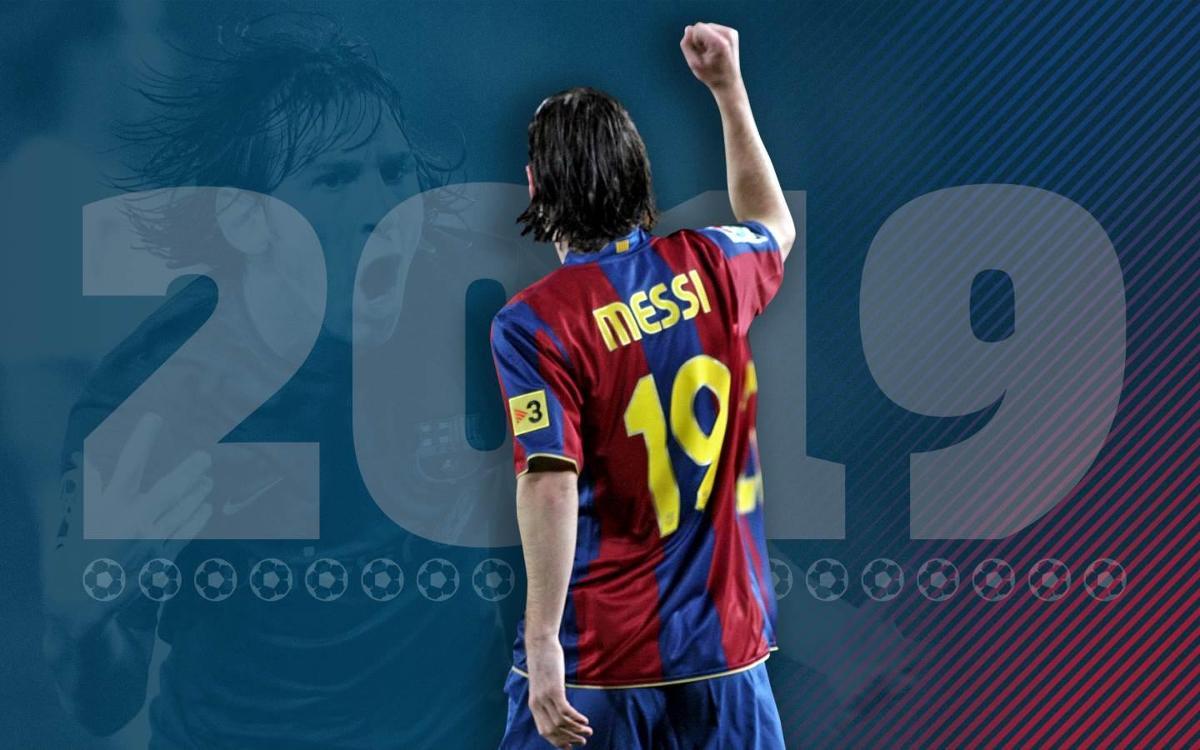 Los 19 mejores goles de Messi con el 19