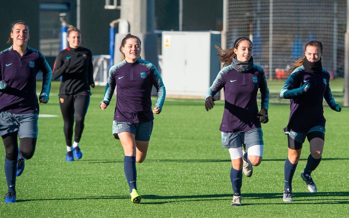 Primer entrenament del 2019 del Barça Femení