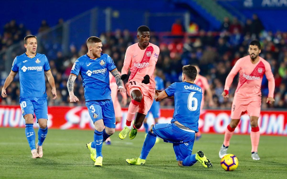 صور مباراة : خيتافي - برشلونة 1-2 ( 06-01-2019 ) Dembele-Getafe