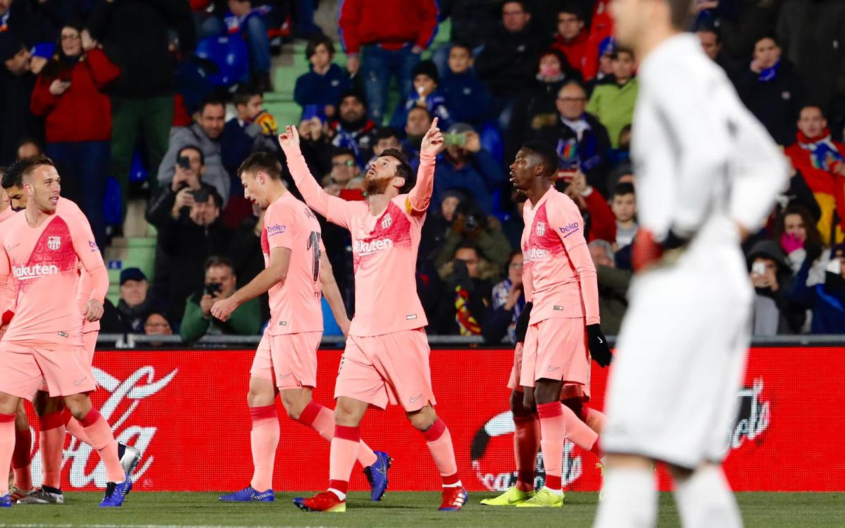 0b0d5b6209 Getafe CF 1-2 FC Barcelona  Winning start to 2019
