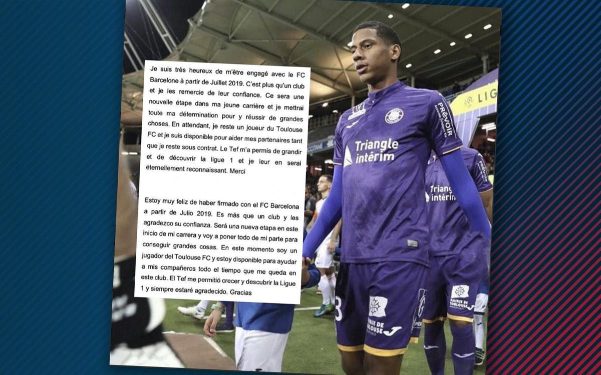 "Todibo : ""Heureux de signer au Barça"""