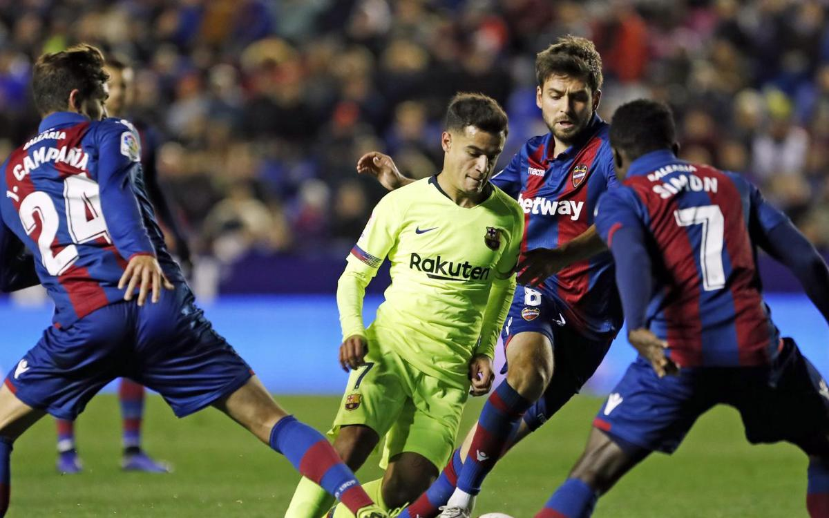 Levante 2-1 Barça: Down but not out