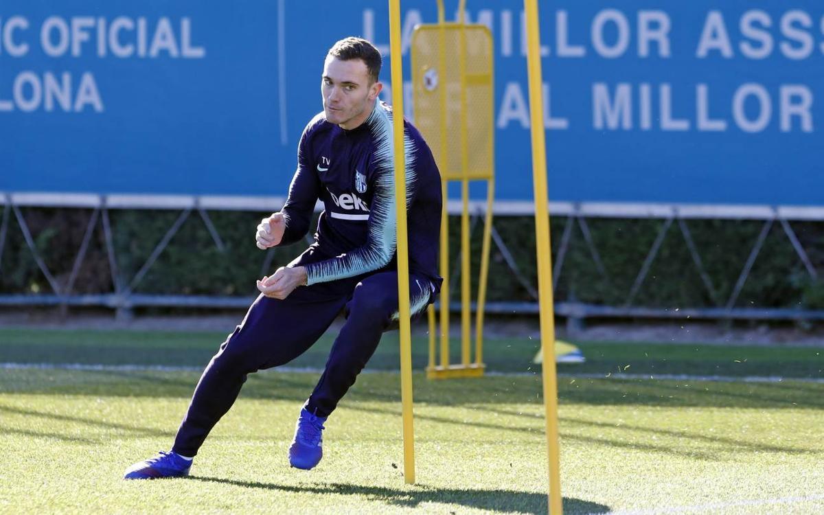 Vermaelen, durante el entrenamiento (Foto: FCB).