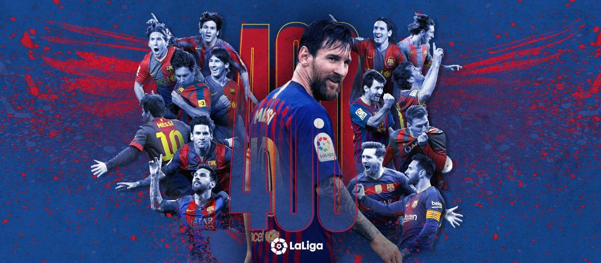 Messi nets 400th Liga goal