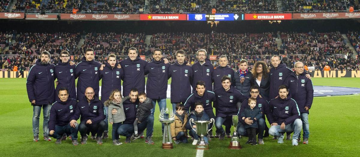 El Barça Lassa mostra el segon triplet del 2018 al Camp Nou