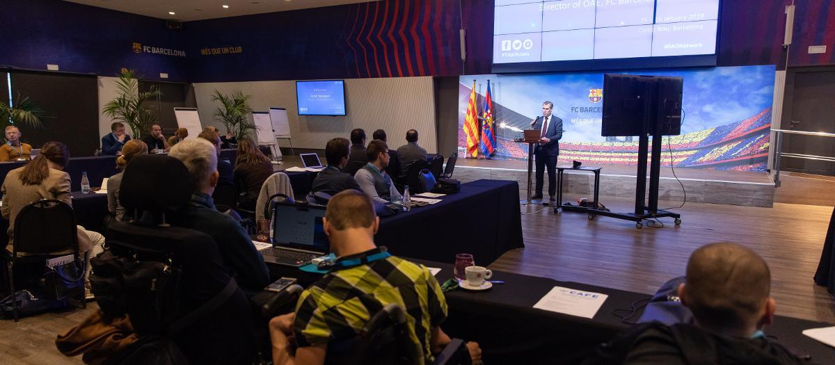 El Barça acull la primera reunió de responsables d'accessibilitat del futbol europeu
