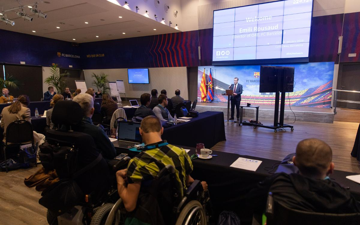 Barça hosts first meeting of European football's disability access officers