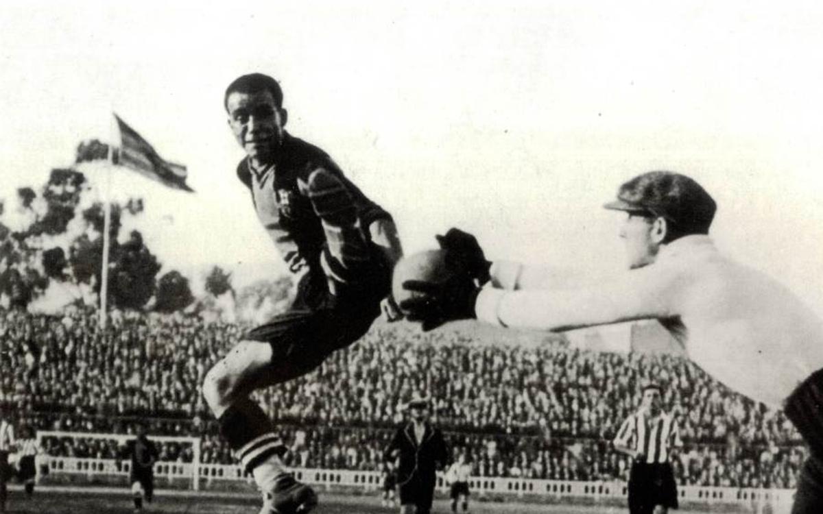 Samitier, el hombre que supera a Messi en la Copa