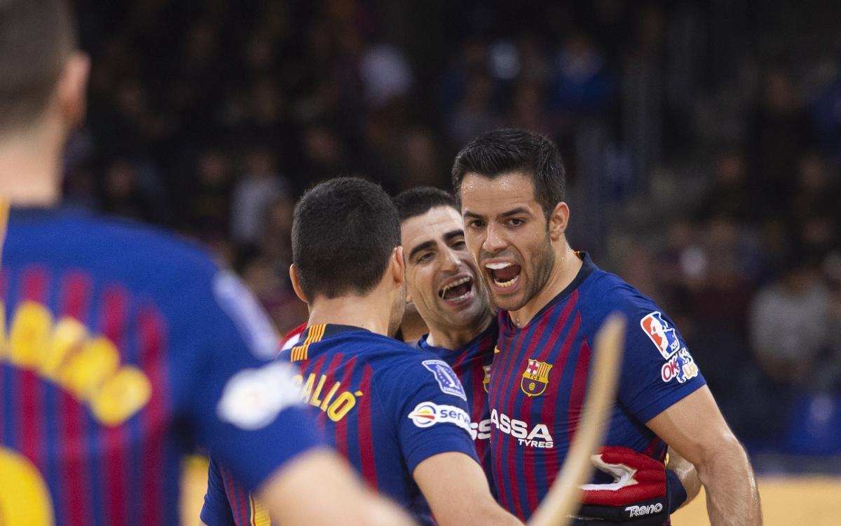 Barça Lassa - Oliveirense: Gran victoria en un festival goleador (7-6)