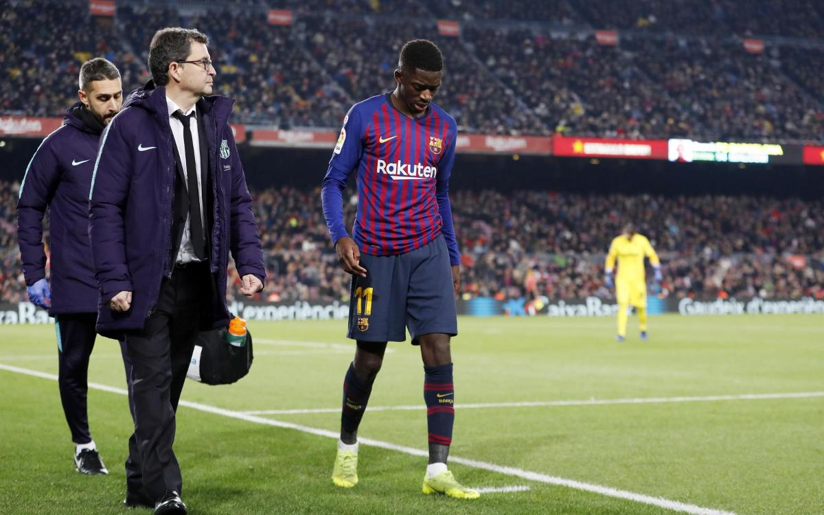 Dembélé set for 15 days out through injury