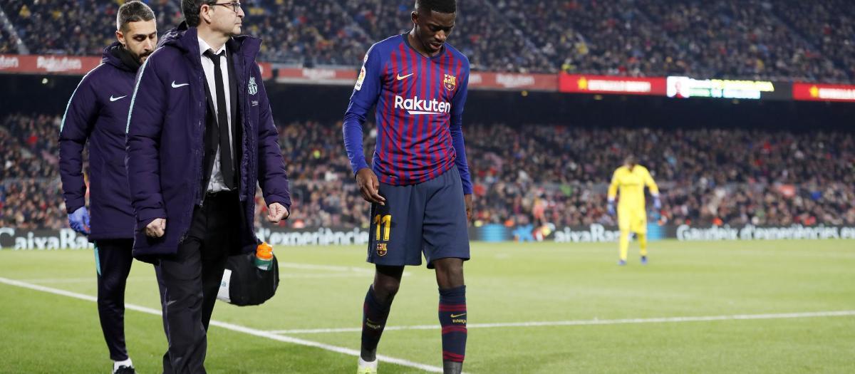 Dembélé set for 15 days out through injury