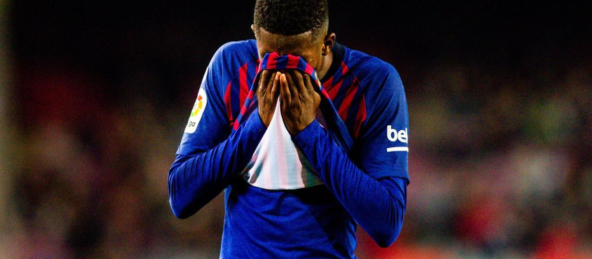 Dembélé's injury: Sprained left ankle