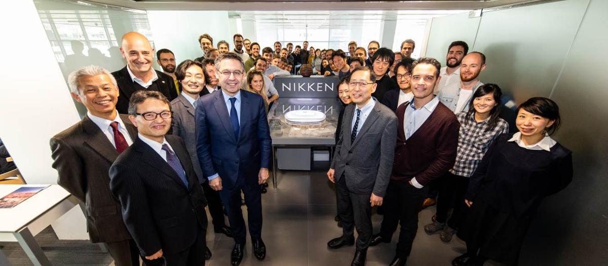Bartomeu and Moix shown development of future Camp Nou project at Nikken Sekkei offices