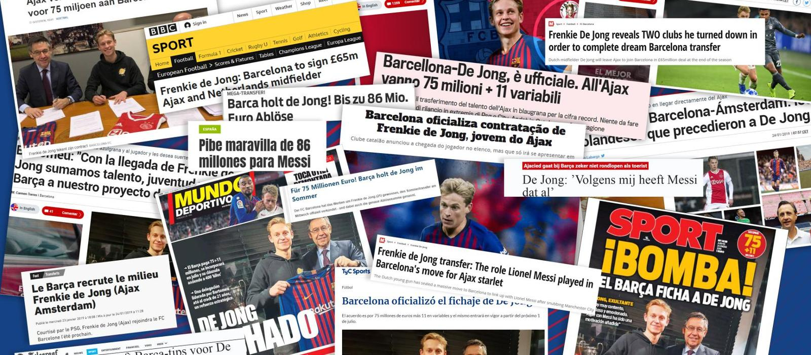 De Jong move makes global headlines