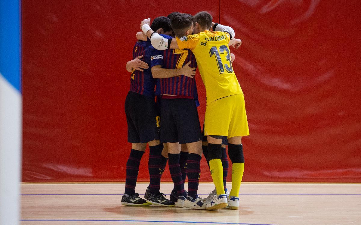 Barça Lassa B - Colo Colo Zaragoza (6-1): Triunfa el talento joven