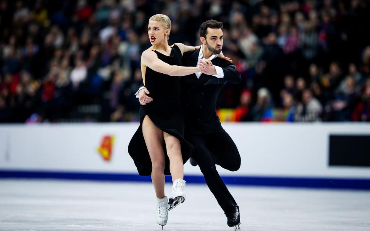 La parella blaugrana Olivia Smart i Adrián Díaz, vuitens en el campionat d'Europa