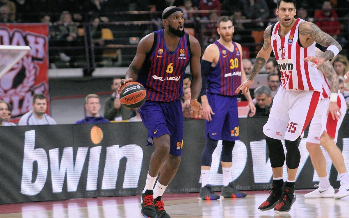 Olympiacos 55 Barça Lassa 76: Great away win in the Pireu