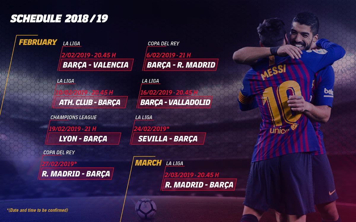 February's demanding fixtures