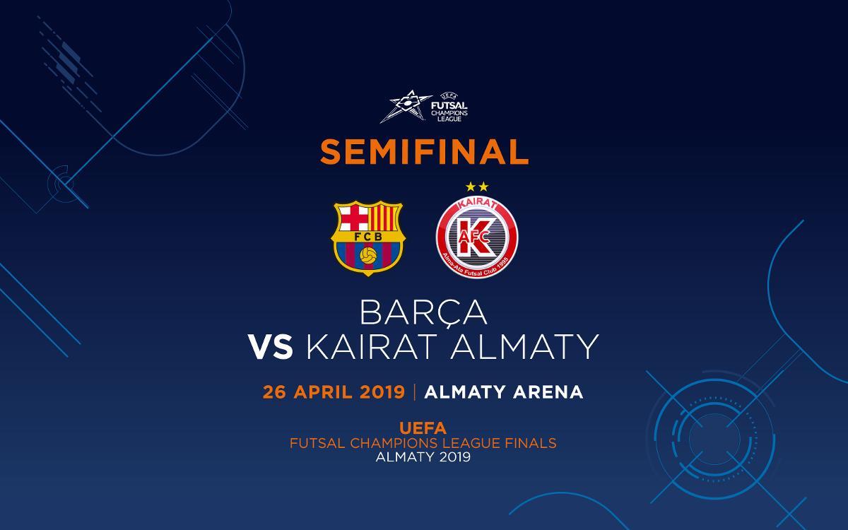Barça - Kairat, en las semifinales de la UEFA Futsal Champions League