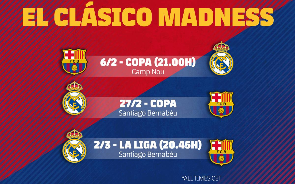 Three Clásicos in 25 days