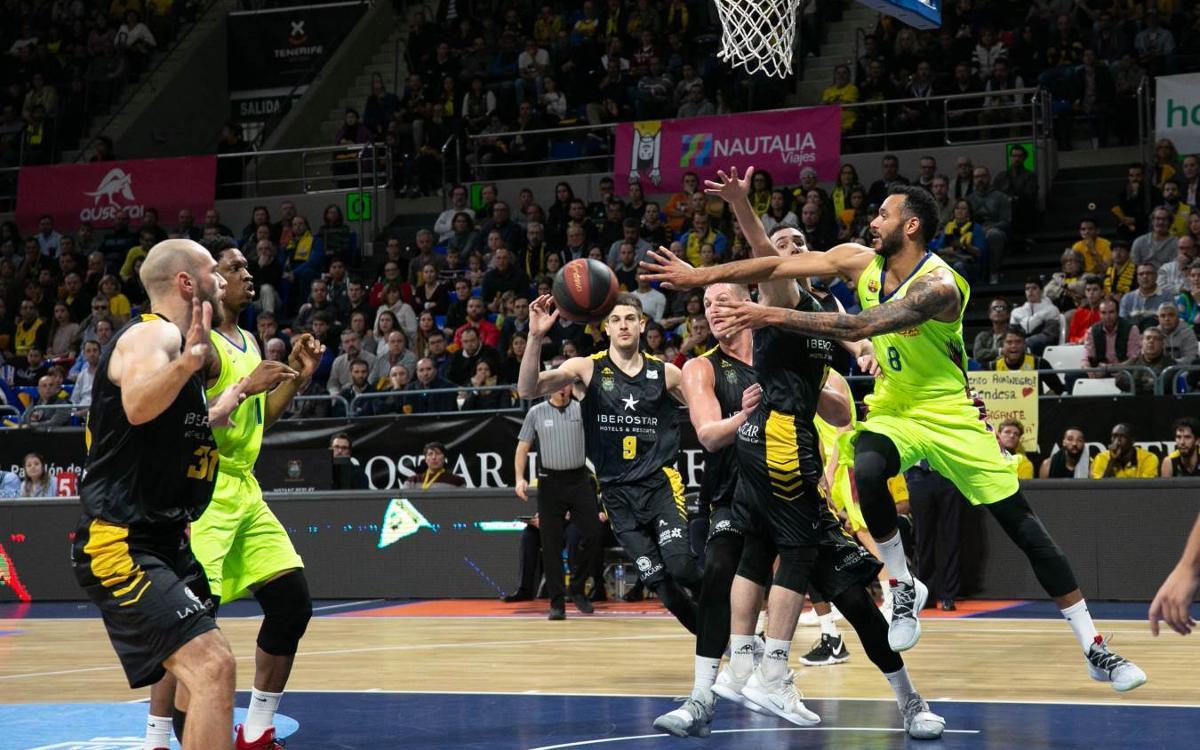 Iberostar Tenerife 63-57 Barça Lassa: Canarian defence stands firm