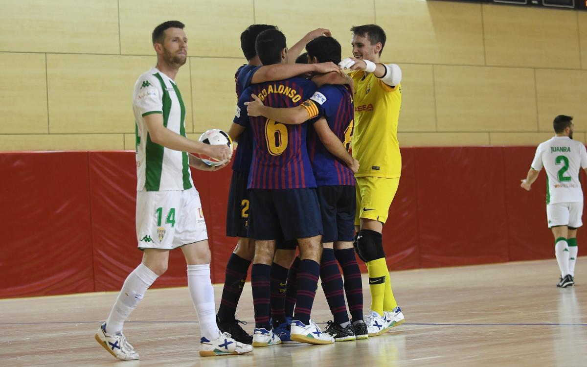 Barça Lassa B - Córdoba CF Futsal (7-4): Intensidad azulgrana