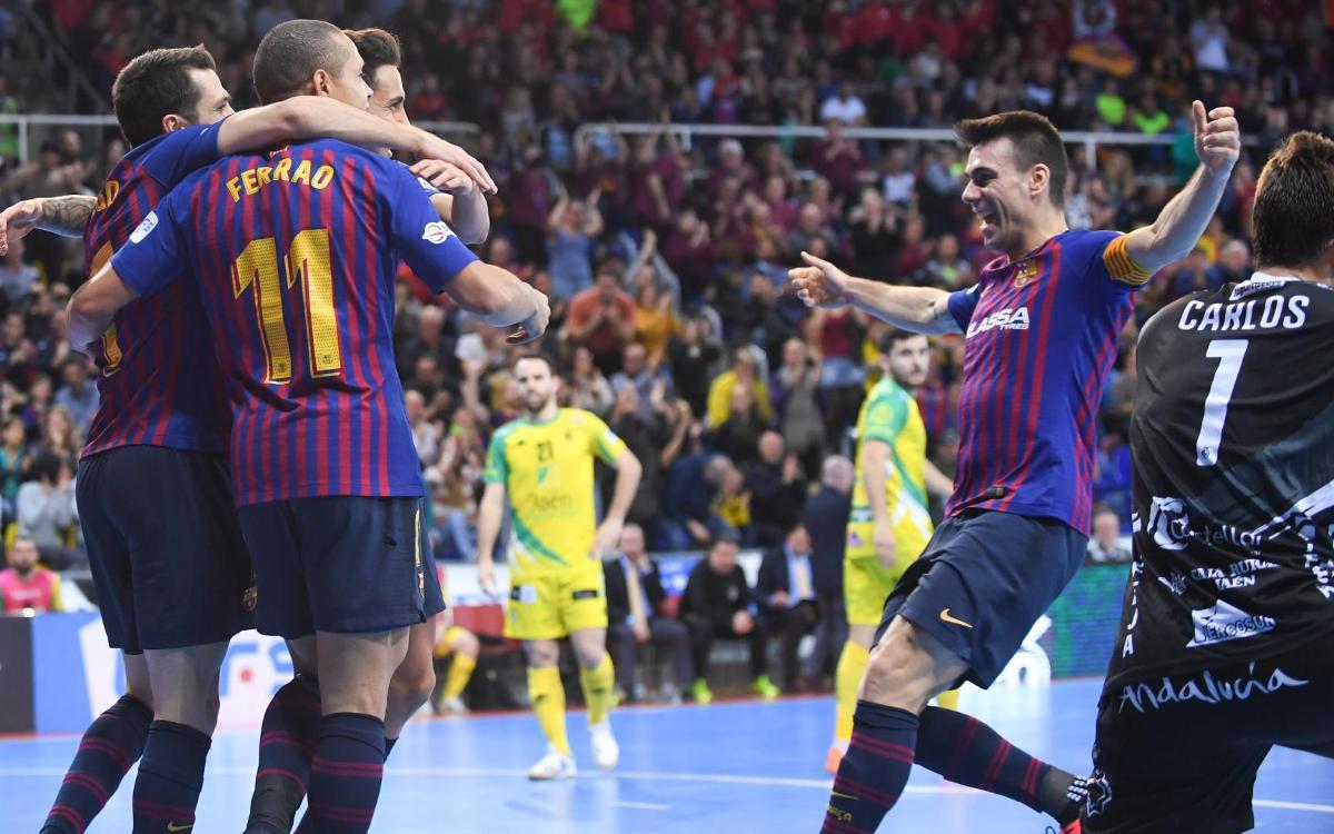 Barça Lassa - Jaén Paraíso Interior: ¡Más líderes! (4-2)