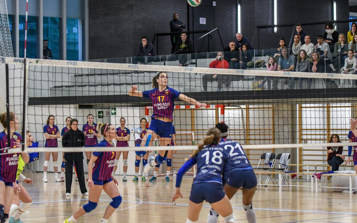 El Barça de voleibol femení guanya i ja és segon