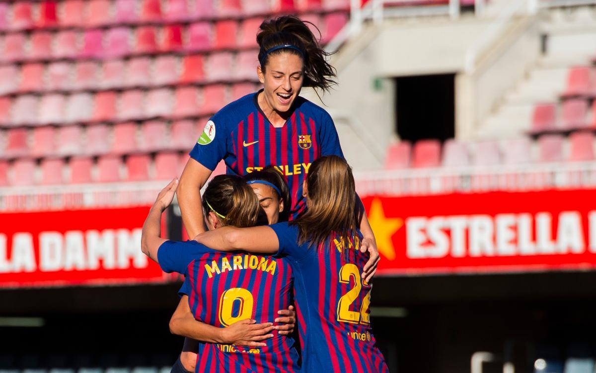 Barça Femení – Sporting Huelva (prèvia): Un molt bon moment al Mini