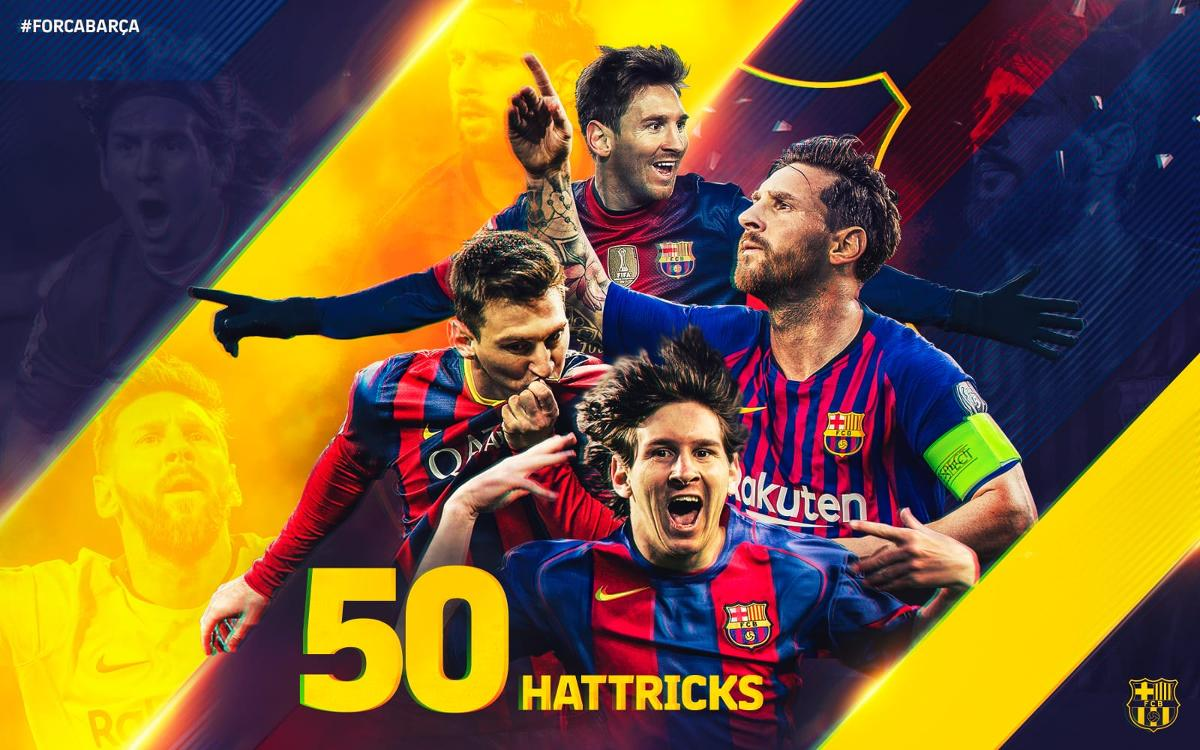 Lionel Messi reaches 50 hat-tricks as a professional