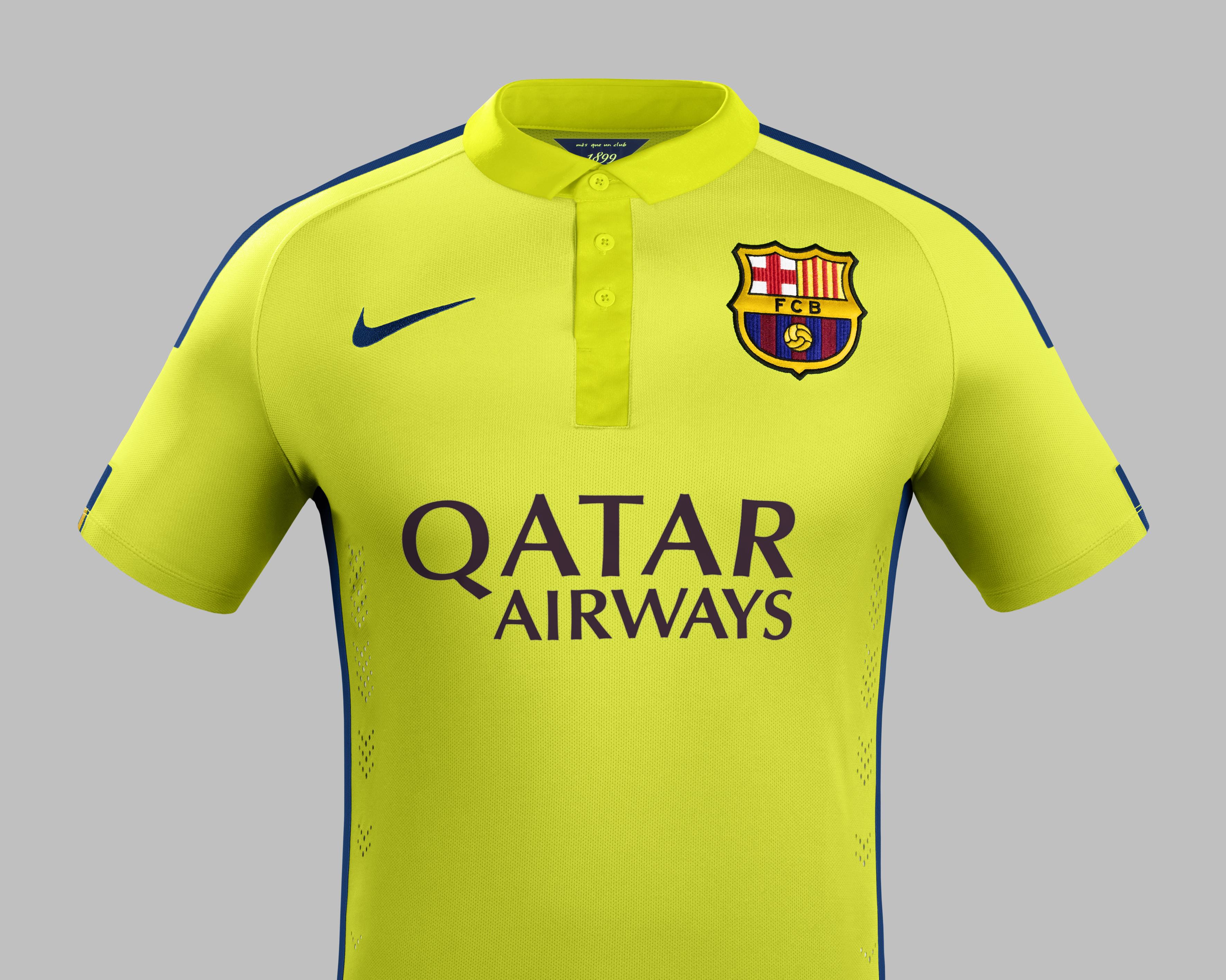 timeless design f49bf 051cd New FC Barcelona third strip features two shades of yellow