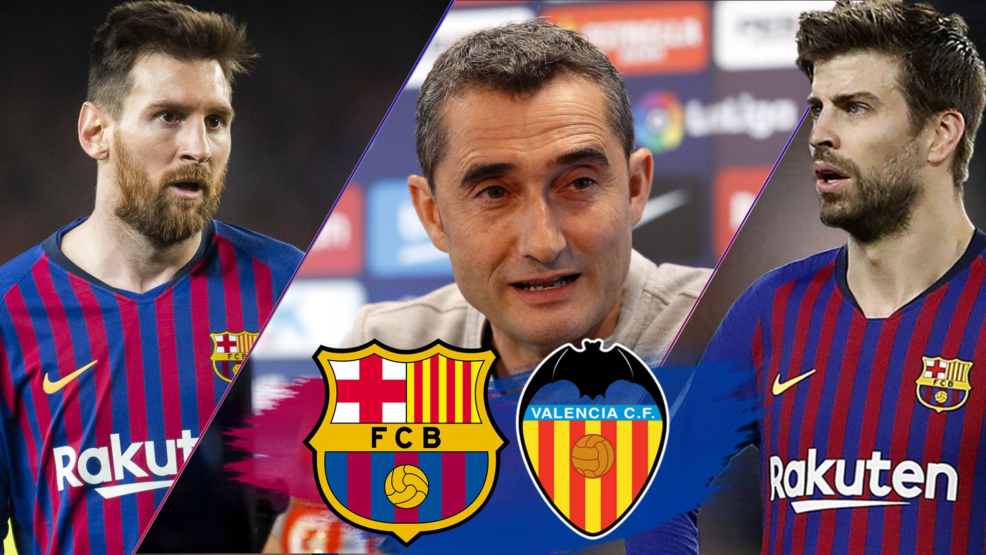 Messi, Piqué and Valverde LIVE press conferences