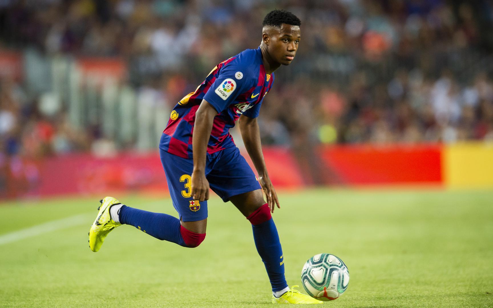 Ansu Fati becomes youngest ever FC Barcelona goalscorer in ...  |Ansu Fati