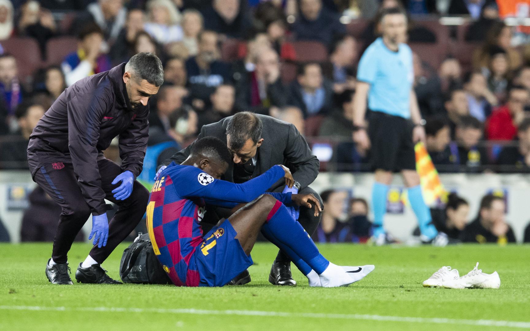 Ousmane Dembélé set to miss approximately 10 weeks