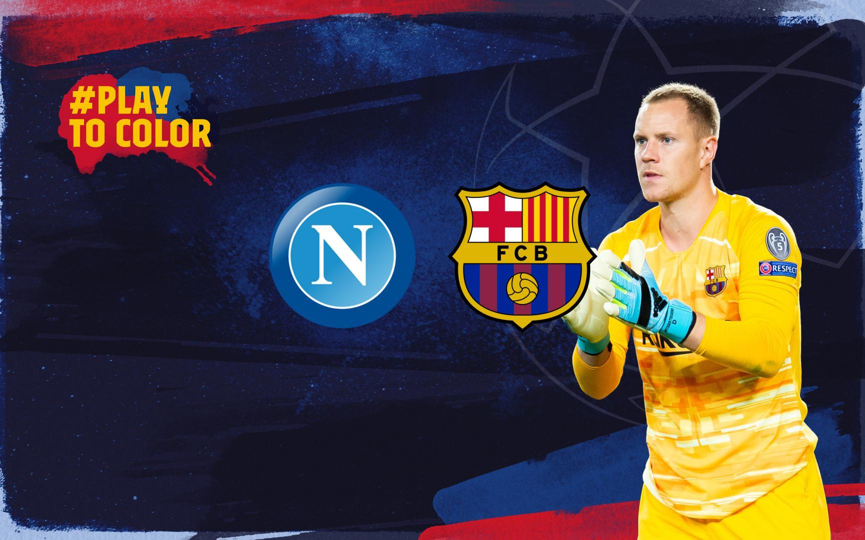 Barça chạm trán Napoli ở vòng đấu loại trực tiếp Champions League